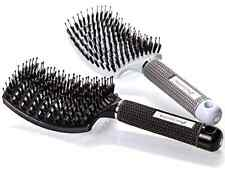 Boar Bristle Hair Brush Curved Vented Detangling Women Long Thick Thin Curly 2Pc