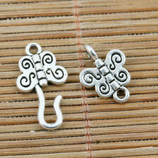 14sets tibetan silver 2sided butterfly hook link toggle clasp EF2267