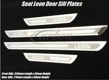 Seat Leon Stainless Steel Door Sill Scuff Plates Set 10-11-12-13-14-15 Years