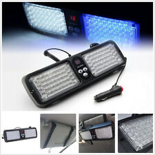 Blue&White 12V EMERGENCY HAZARD WARNING SECURITY SUN VISOR 86 LED STROBE LIGHT