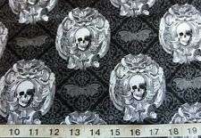 Halloween gothic skull fabric by Michael Miller sold by fat quarter