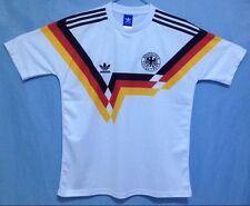 1990 Alemania Occidental Camisa Medio Deutschland Copa del Mundo de calidad increíble