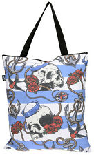Liquor Brand NAUTICAL SKULL Sailor Shopping BAG / Tasche Rockabilly