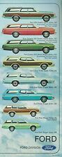 1973 Ford STATION WAGON Brochure : LTD,Country Squire,Torino,Galaxie,500,Pinto,