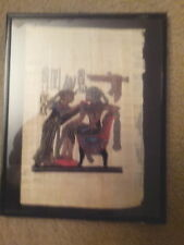 Egyptian Papyrus - Printed image of 2 Egyptian Figures - Painting - Framed