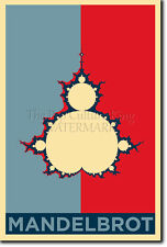 THE MANDELBROT SET ART PHOTO PRINT (OBAMA HOPE) POSTER GIFT FRACTAL LSD ACID