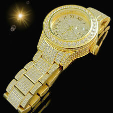 Full Iced Out Solid Steel Mens Lab Diamond Joe Rodeo Jojo Jojino Techno Kc Watch