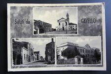 Cartolina originale viaggiata 1952 GAVELLO ROVIGO chiesa centro scuole