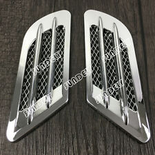 BRAND NEW CHROME CAR AIR INTAKE SIDE VENT GRILLE MESH FENDER DECORATION STICKER
