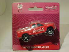 Dodge RAM Quad Cab 2002 Coca-Cola Edocar Maisto 1/64 Diecast Mint on Card
