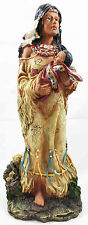 Native American Indian Mother and Baby Figurine Statue Collectible Craft Decor