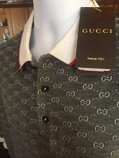 GUCCI Casual T-Shirt Size L,XL,XXL, gg,Monogram White & Black
