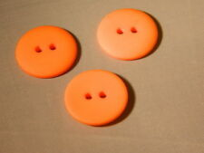 25 NEW 3/4 INCH  ORANGE  DULL/MATTE FINISH BUTTONS #261CD29- 34