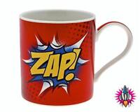 SUPER HERO COMIC BOOK WORD WORDS ZAP MUG COFFEE CUP NEW IN GIFT BOX