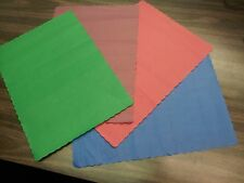 14x10 BLUE/RED/GREEN/BURGUNDY PAPER PLACEMATS (1000 PER BOX ) SCALLOPED USA MADE