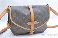 Authentic Louis Vuitton Monogram Saumur 30 Shoulder Bag M42256 LV 31933
