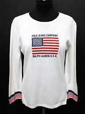 POLO RALPH LAUREN Maglia Donna Woman Cotton T-Shirt Sweater Sz.M -  44