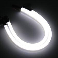 2pcs 30cm DRL 5W 3014SMD LED Bande Feu de Jour Clignotant Blanc Ambre Voiture