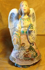 """2003 G. DeBrekht 12"""" Holiday Blessing Angel Figurine #55111 Reminiscence Series"""