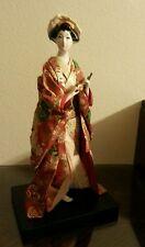 Porcelain geisha doll 9 inches tall