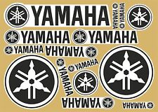 Yamaha decal set 14 quality printed stickers + FREE Van/Transporter Sticker