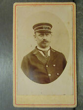 ancien photo format cdv employe hotel prefectoral police HP feuilles de laurier