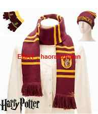 New Harry Potter Gryffindor CostumeThick Scarf  + gloves + Hat/Cap Cosplay