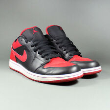 21637 Nike Air Jordan 1 I Phat Low Black/Varsity Red-White 338145 061 2008 11