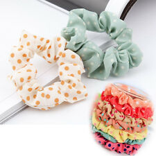 Fashion 10pcs Lots Sweet Girls Elastic Hair Band Hairband Ponytail Holder