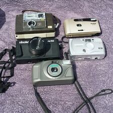 Lot of 5 35mm Film Cameras keystone kodak ninoka Olympus panorama 3 cases