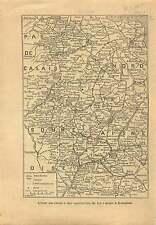 WWI Map Carte Soissons Aisne Somme La Bassée Nord Douai Lens 1915 ILLUSTRATION