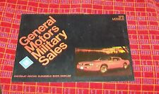 GENERAL MOTORS MILITARY SALES 1978 MODELS BROCHURE CHEVROLET PONTIAC BUICK