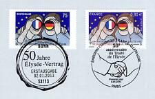 BRD 2013: Elysee-Vertrag 50 Jahre Nr. 2977 + französische Parallelausgabe! 1608