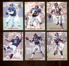1992 Power New York Giants Set LAWRENCE TAYLOR PHIL SIMMS JEFF HOSTETLER