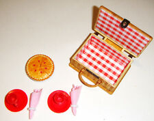 "Barbie Miniature Picnic Set & Cherry ""Pie""  Accessories For Barbie Dolls ac499"