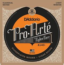 D'Addario Pro Arte Nylon Core Classical Guitar Strings light tension; EJ43