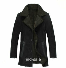 Custom Tailor Made All Size Genuine Blazer Pea Coat Suede Fur Leather Jacket