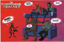 Joey Vazquez SIGNED Marvel Comics Art Print Guardians of the Galaxy Groot Rocket