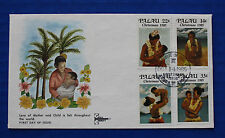 ** Palau (90-93) 1985 Christmas - Island Mothers & Children FDC by Gill Craft