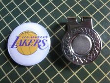 GOLF / Los Angeles Lakers  Logo Golf Ball Marker/with Magnet Hat Clip New!!