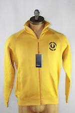 AUTH Fred Perry Men's Track Jacket With Fleece Lining XS Yellow