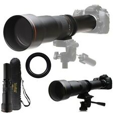 Telephoto Vivitar Zoom 650-1300mm Lens For Olympus E-5 E-510 E-500 E-450 E-420