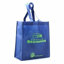 Seattle Seahawks Reusable Bag Blue Groceries Tote Reduce Reuse Recycle NFL New