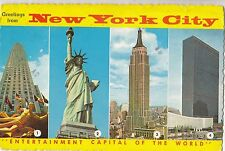 BF17819 new york city multi views USA front/back image
