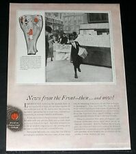 1919 OLD MAGAZINE PRINT AD, EASTMAN KODAK, NEWS FROM THE FRONT - THEN.. AND NOW!