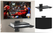 Verre noir dvd etagere murale silve tube pour sky box console de jeu player lcd tv led