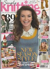 Simply KNITTING Magazine #118 APRIL 2014, ONLY MAGAZINE NO GIFT.