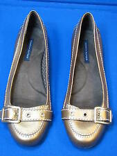 8.5 M Tommy Hilfiger Brown Bronze Metallic Ladies Shoes BLYTHE Women Flat Loafer