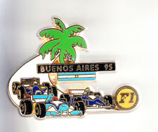 RARE BIG PINS PIN'S 3D .. F1 AUTO CAR RENAULT BENETTON BUENOS AIRES 1995 ~BV