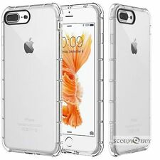 For Apple iPhone 7 Plus Rubber Hybrid TPU Clear Case Bumper Shockproof Cover